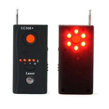 Wireless RF Signal Detector CC308 Multi Function Camera Bug GSM Alarm System WiFi GPS Laser 1MHz-6.5GHz Range Adjustable Sensitivity
