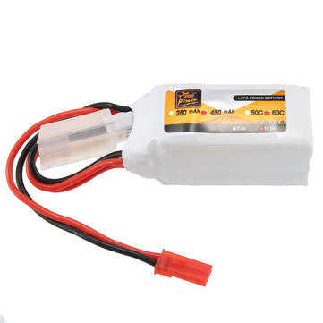 ZOP Power 11.1V 450mAh 60C 3S Lipo Battery JST Plug