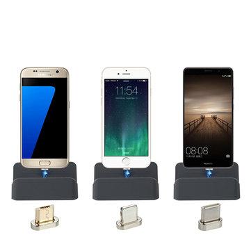 Bakeey Type C Için Manyetik Hızlı USB Şarj Şarj Dock Oneplus 5t Xiaomi Mi6 Mi A1 Mix 2S S9 +