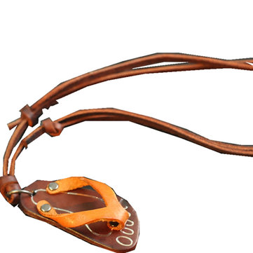 Genuine Leather Flip-Flops Outdoor Beach Necklace