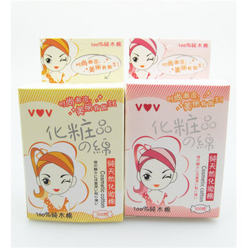 100Pcs Facial Cleansing Cotton Pad Woman Natural Daily Puff Make Up White Cosmetic