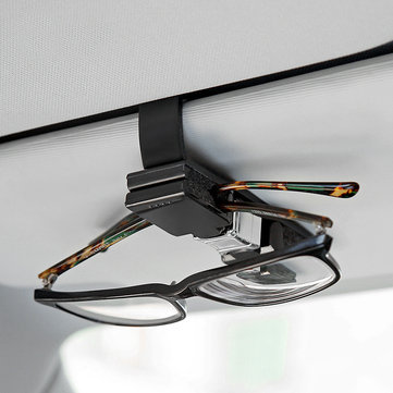 Portable 360° Rotation Car Sun Visor Glasses Clip Ticket Bill Card Fastener Clamp Clip Holder