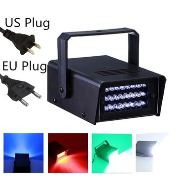 3W 24LED RGB Mini Halloween Strobe Light Spooky Effect Party DJ Disco Club Stage Light