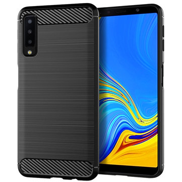 Mofi Protective Case For Samsung Galaxy A7 2018 Carbon Fiber Brushed Finish Fingerprint Resistant