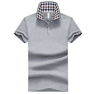 Mens Slim Solid Color Golf Shirt