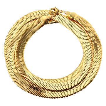 Punk 18k Gold Plated Zinc Alloy Chain Trendy Snake Necklace Men Jewelry