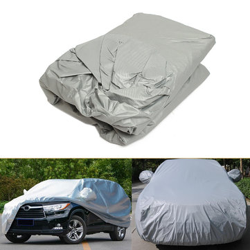 Sliver 400cm Small Size S Outdoor Full Car Cover UV Waterproof Dust Sun Protection
