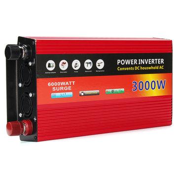 12V TO 220V Solar Inverter 3000W Power Inverter Dual Turbine Cooling System Inverter