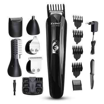 KEMEI 6 in1 Multi-functional Hair Clipper Beard Trimmer Set