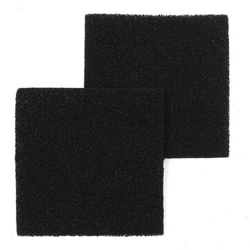 2Pcs Square Activated Carbon Filter Foam Sponge Air Impregnated Sheet 13cmx13cm