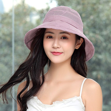 Women Linen Foldable Breathable Fisherman Hat