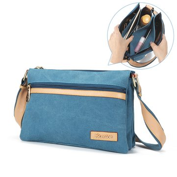 Women Multiple layers Handbag Canvas Fashion Sling Bag