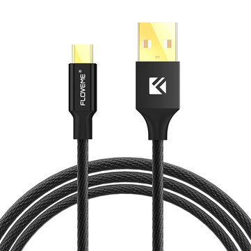 FLOVEME Braided Micro USB Data Charging Cable 1.2m for Samsung S7 Edge Huawei 6X Redmi Note 4