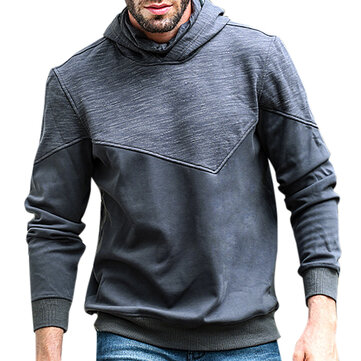 JOZSI Mens Leisure Hooded Cashmere Sweater Fashion Hit Color High Collar Sports Hoodies Sweatshirts