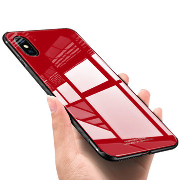Bakeey™ Tempered Glass Mirror Back TPU Frame Protective Case for iPhone X 7/8 7Plus/8Plus