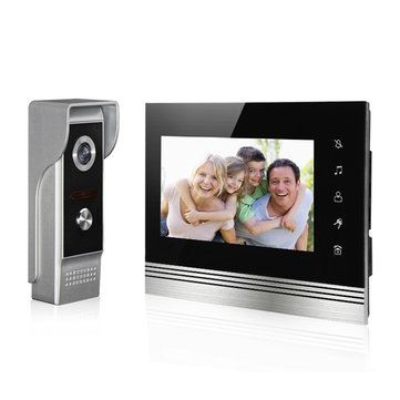 V70K-M4 7 inch Video Door Phone Intercom Doorbell High Definition Color Screen Infrared Night Vision