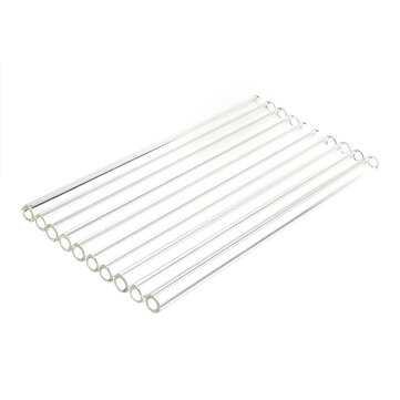 10Pcs 200mm Thick Wall Borosilicate Glass Tube Blowing Tubing Lab Glassware
