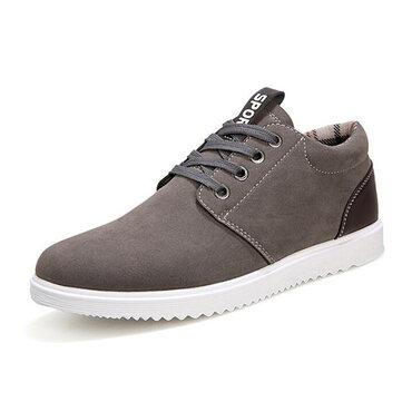 Мужчины спортивной моды случайные спортивные кроссовки замшевые комфортабельные квартиры обувь