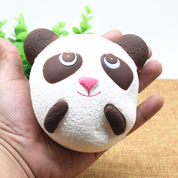 Cute Jumbo Panda Bread Phone strap Soft Panda Squishy Head Charms Cell Phone Key Bag Straps Pendant