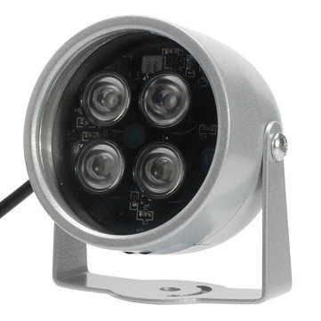 850nm 3W WideAngle 4 LED IR light Illuminator For Security CCTV Camera Silver
