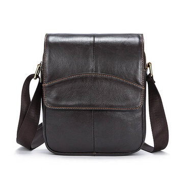 Ekphero® Men Business Genuine Leather Business Messenger Shoulder Bag