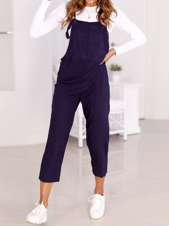 Sleeveless Dungarees Romper Pants Trousers Strap Jumpsuit