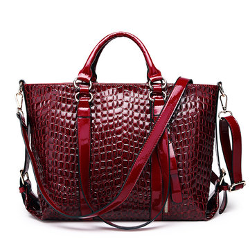 Elegant PU Leather Tote Bag Square Handbag Women Newest Crossbody Bag