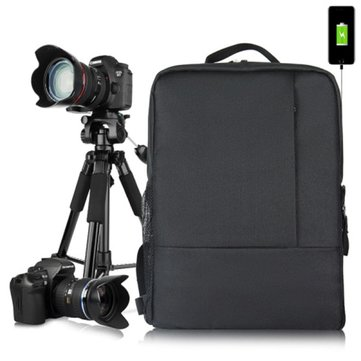 HUWANG 8099 Multi-functional Universal Photography Waterproof Nylon DSLR SLR Camera Bag Backpack