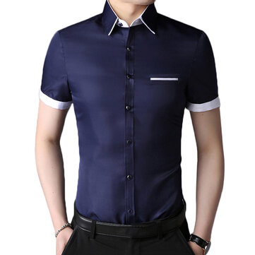 Business Stylish Non-ironing Button up Men Dress Shirts