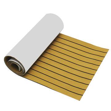 EVA Foam Deep Yellow With Black Strip Boat Flooring Faux Teak Decking Sheet Pad