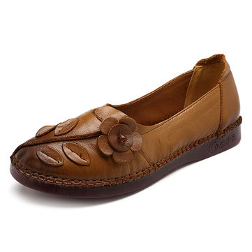 Women Shoes Genuine Leather Comfortable Causal Soft Flats