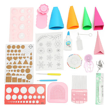 Quilling DIY Paper Art Craft Tool Full Kit Quilling Work Board Mould Grid Guide Tool
