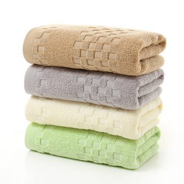 KCASA KC-BR226 Pure Thicken Super Absorbent Antibacterial Towel 100% Cotton Hand Towels Checkered Pattern Hand Face Towels