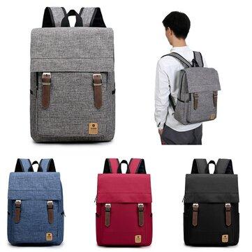 Hommes Femmes Casual Canvas Sac à dos pour ordinateur portable Travel Rucksack Student Shoulder Bags