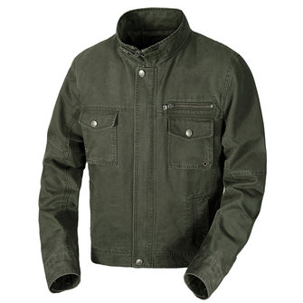 Spring Autumn Military Style Cotton Pure Color Casual Jacket