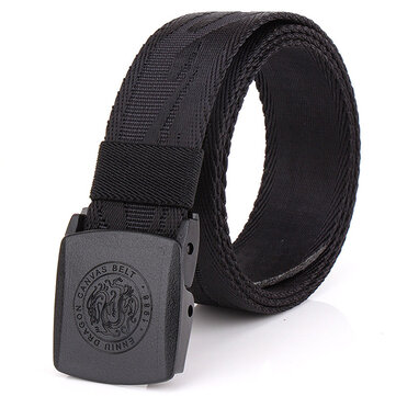 125CM Automatic Buckle Nylon Belt Men Army Tactical Alloy Buckle Pants Strap
