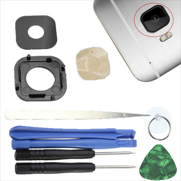 Back Camera Glass Lens Cover Frame Replacement+Tools For HTC One M9