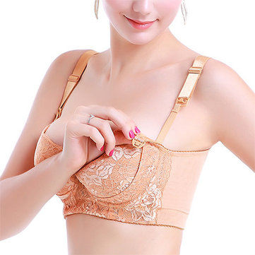 Strap Open Lace Breast-Feed Breathable Nursing Bra