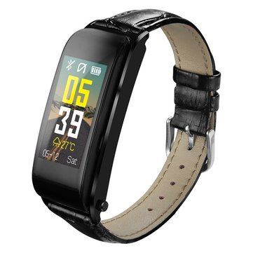 Bakeey Y6 Earphone Bluetooth Call Anti-lost Blood Pressure Heart Rate Monitor Music Player Smart Watch