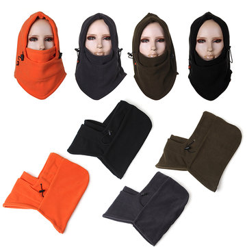 Men Women Windproof Ski Fleeces Cap Outdoor Mask Warm Head Scarves Cycling Headgear Hat
