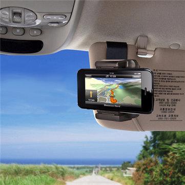 Universal Car Portable Sun Visor Mount stand della clip del supporto del telefono per telefono sotto 5,5 pollici