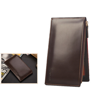 Men Business Phone Zipper Pocket 15 Card Slots Long Wallet