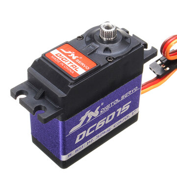 JX DC6015 DC Digital Servo Angle standard pour RC Model Transmitter Radio