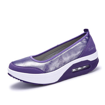 Casual Rocker Sole Shoes Outdoor Sport Slip On Flats
