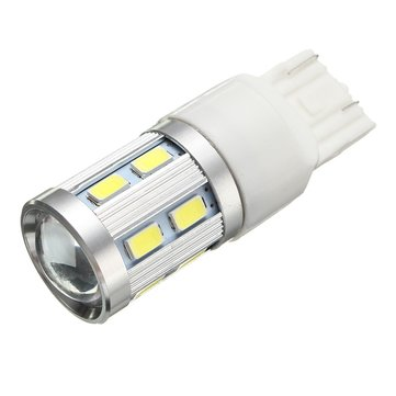 T20 7443 12SMD White 6000K LED Bulb With Lens Car Tail Light Brake Stop Light