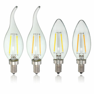 E12 2W COB Edison Filament Bulb LED Candle Light Lamp Bulb AC110V