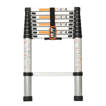 2.6m Foldable Telescopic Alloy Aluminium Ladder Extension Extendable 9 Steps