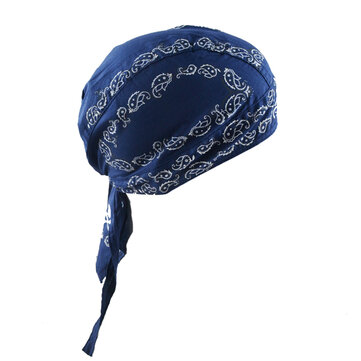 Wicking Embroidered Printting Cycling Headband Outdoor Running Bandana Skull Cap Beanie
