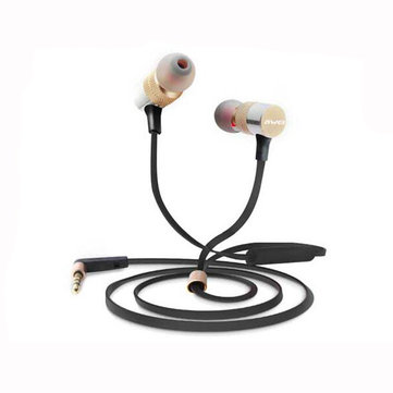 Buy Awei ES 20TY In Ear Heavy Bass Noise Isolating with Microphone Universal Earphone for $10.17 in Banggood store