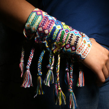 Bohemian Handmade Tassels Jewelry Colorful Bracelets for Wom